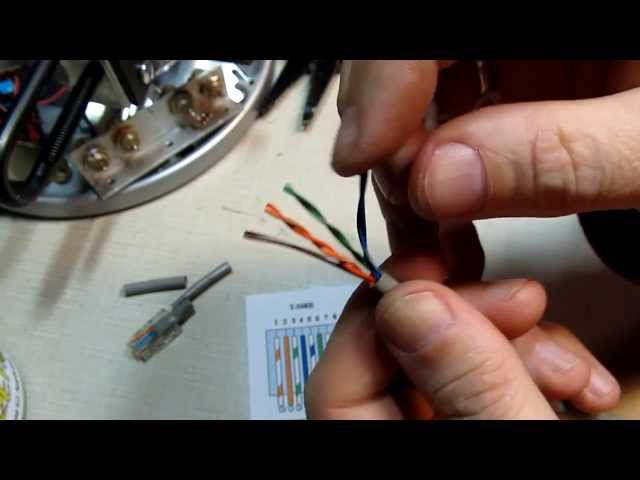 124: How to install an RJ45 connector on a CAT5 Ethernet network Patch Cable - DIY Repair