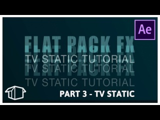 TV Static Glitch Effect Tutorial for After Effects CC - Part 3
