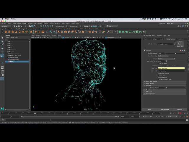 Maya 2018 - Curl Noise Hologram