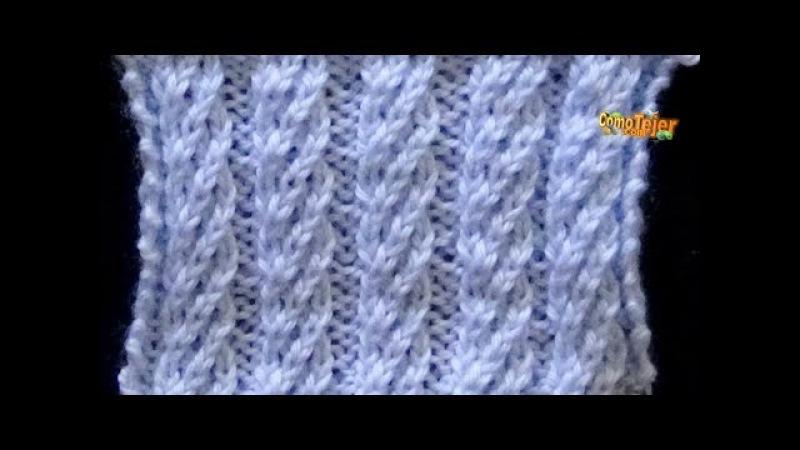 Cómo Tejer Punto ESPIRAL GRANDE - 2 agujas (443)
