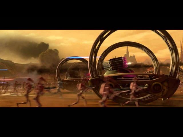 Звёздные войны Эпизод 2 Атака клонов отрывок Битва за Джеонозис
