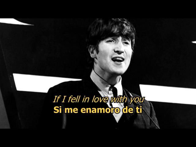 If I fell - The Beatles (LYRICSLETRA) [Original]