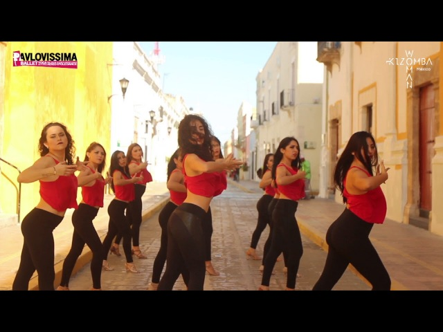 Kizomba Woman Lady Style Pro Flashmob, Lucero Huitrón en compañía de Ana Pavlova Compañía. h