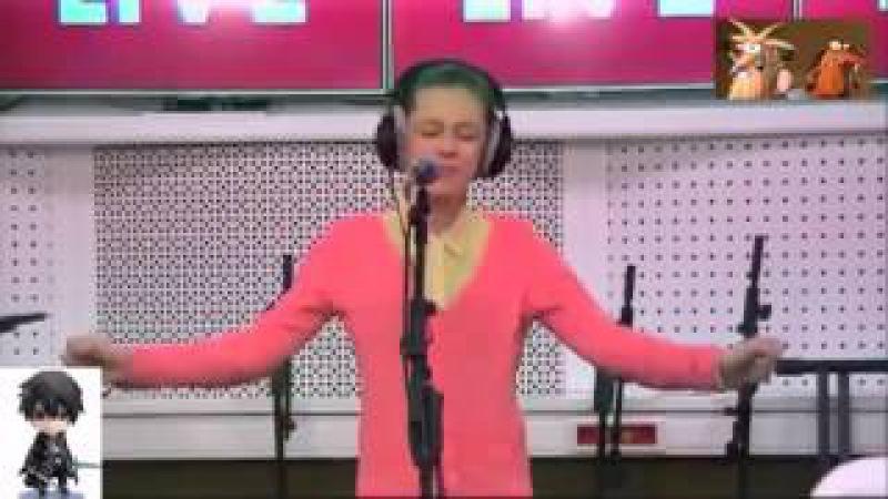 13 летняя девочка перепела певицу Iowa 'Улыбайся'.