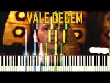 Vale Decem - Doctor Who Synthesia Piano Tutorial