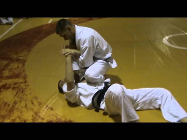 Бушинкан Дзю Дзюцу - ката виходів на больовий на лікоть сидячи. (Bushinkan Jiu Jitsu)
