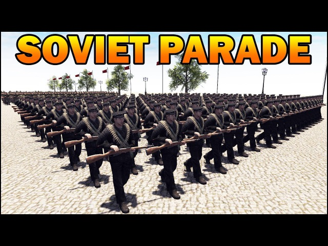 MASSIVE SOVIET MILITARY PARADE 1945 - RobZ Realism Mod All Vehicles - Men of War Assault Squad 2