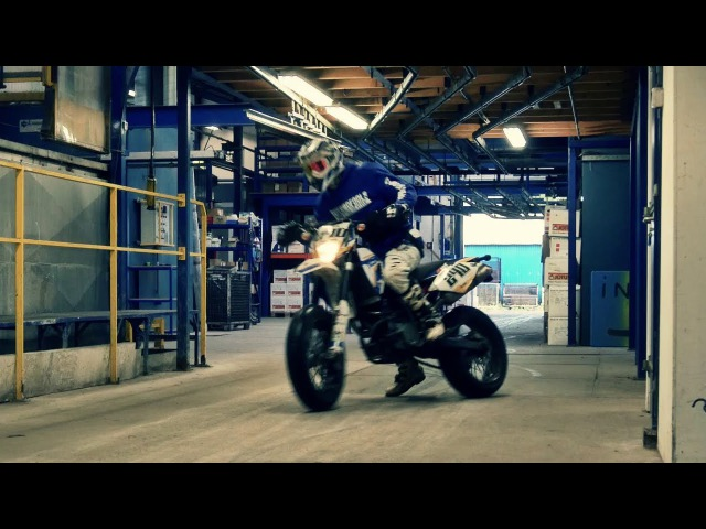SMF 43: Urban Supermoto Ride Inside A Factory - World Is A Playground Pt. II - Supermofools