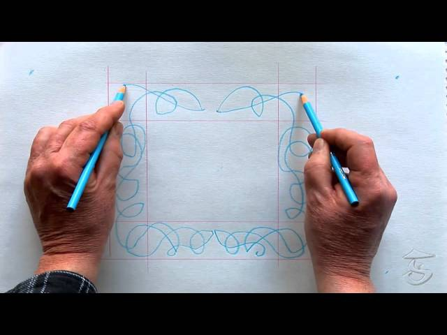 How To Draw A Celtic Border Knot Using The Two Handed Method