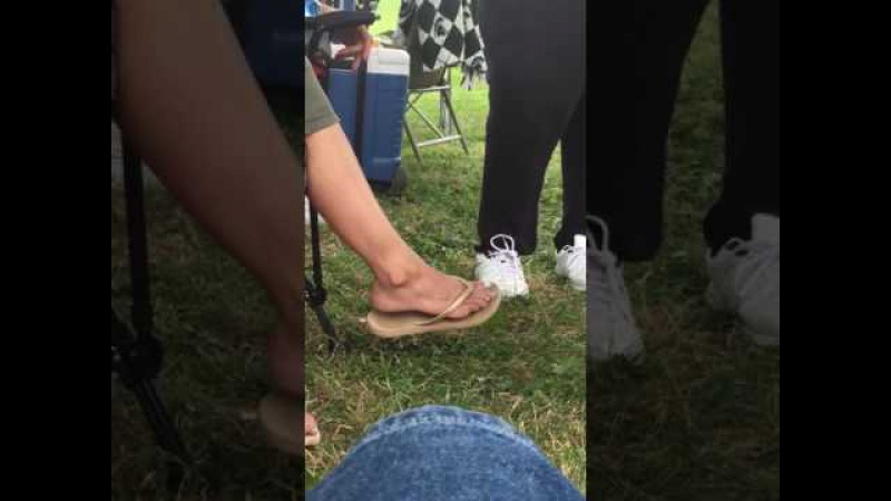 My teacher sexy feet in flip flops