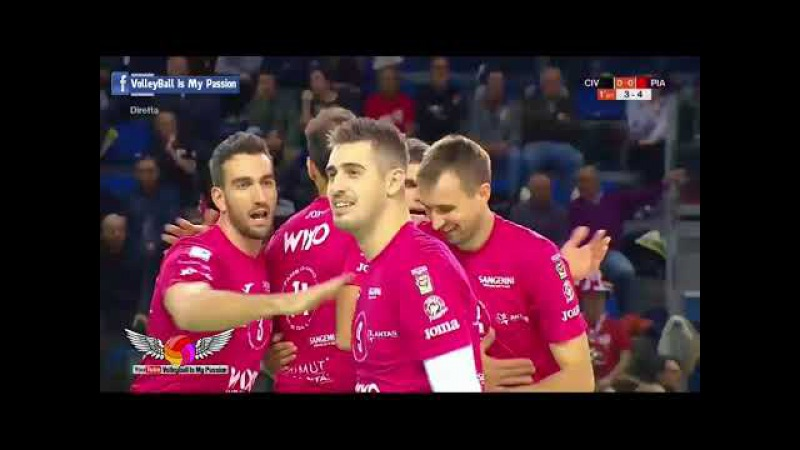 HD Lube Civitanova vs Piacenza 17 11 2017 Italia SuperLega UnipolSai A1 Volleyball 2017 2018