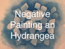 How To Paint in Negative Space in Watercolour Watercolor Hydrangea Blue Tutorial