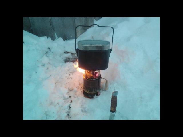 Пиролизная походная печь из консервных банок
