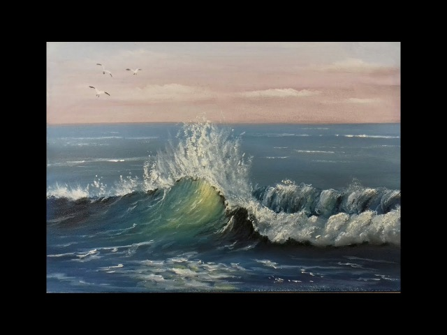 How to paint Waves in oils