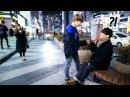 구경하던 강남 남학생이 달려와 방탄소년단(BTS) '봄날'을 불렀는데 소름끼침