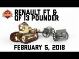 Renault FT & QF 13 Pounder - Custom Military Lego