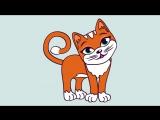 Развивающий мультик для малышей от 1 года. Знакомство с кошкой - YouTube (720p)