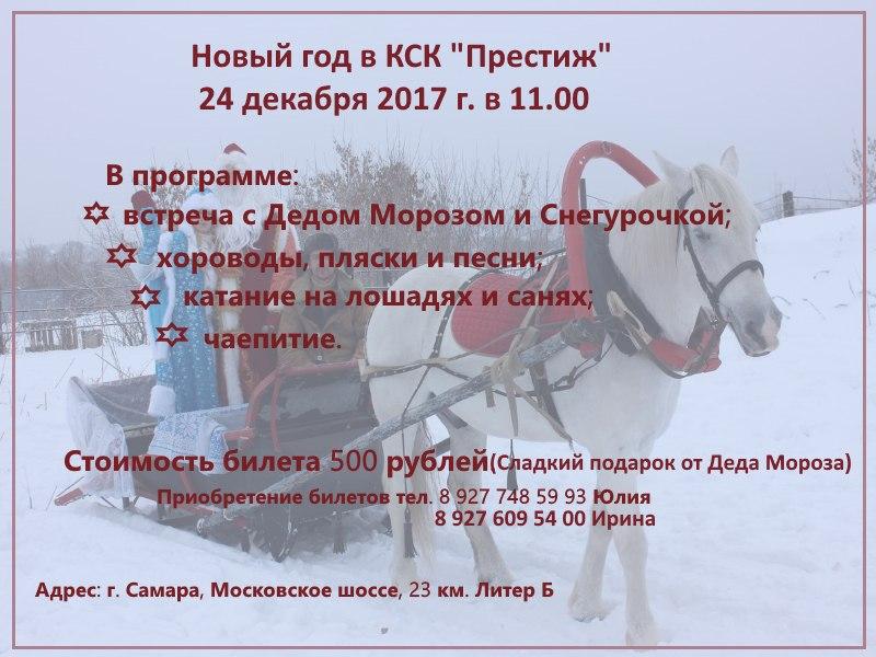 "Афиша Самара Встреча Деда Мороза и Снегурочки в КСК ""Престиж"""