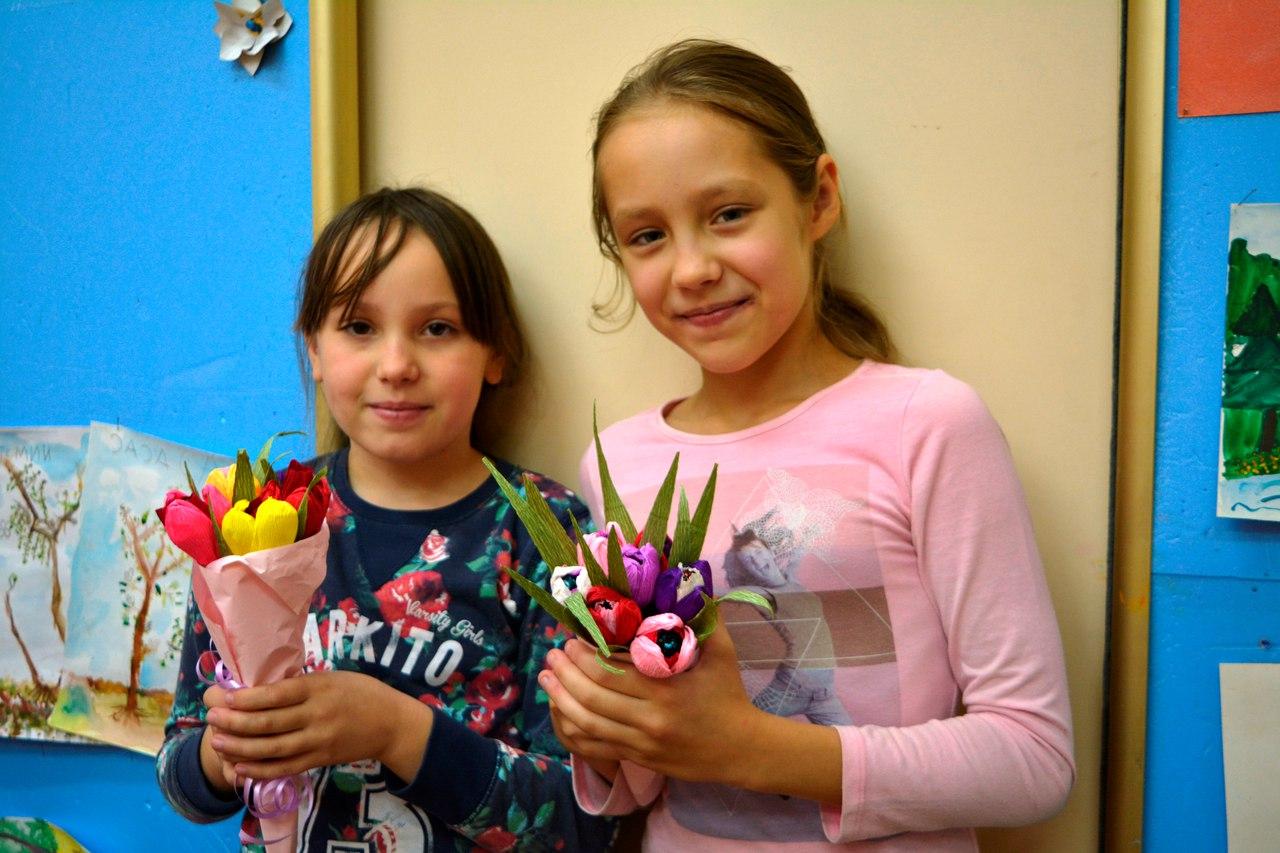 мастер-класс букет из конфет - тюльпаны