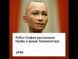 Робот София рассказала Грефу о вреде Терминатора