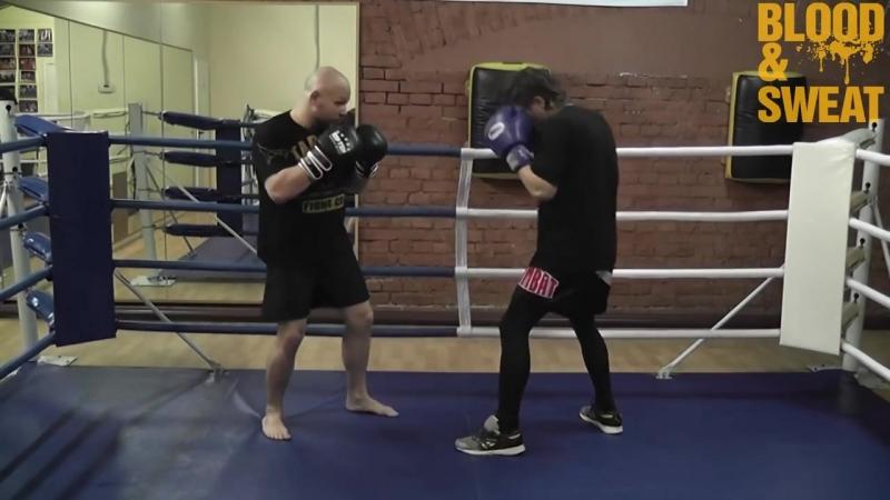 Бокс. Встречный апперкот в корпус. Boxing. Counter uppercut to the body