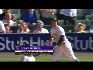 Nolan Arenado's  wins the 2017 MLB Award for Best Play, Offense