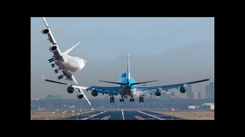 Boeing 747 Worst Crosswind Storm Landings Takeoffs Touch and Go