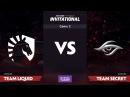 Team Liquid против Team Secret, Вторая карта, LAN-Финал SL i-League Invitational S3, Четвёртый день
