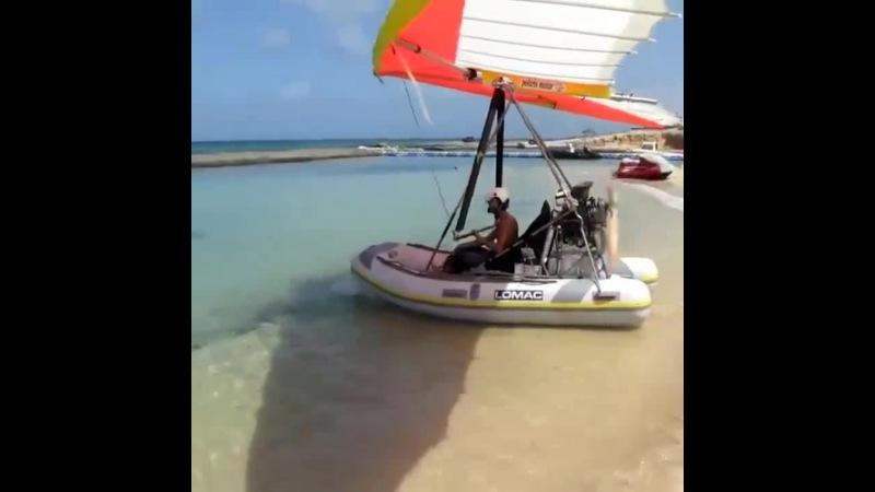 Hang-Glider Boat