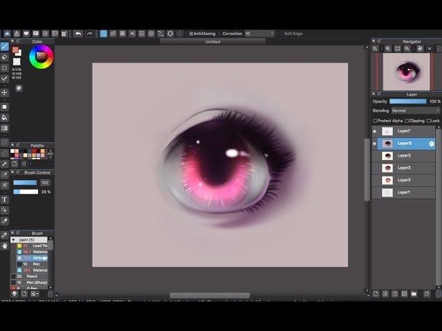 [Medibang Paint Pro desktop version how to] Eye color tutorial - Part 2