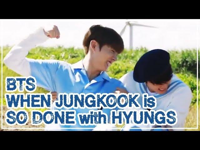 [Eng Sub] BTS when JUNGKOOK is SO DONE with HYUNGS 방탄소년단 정국 형들이 형같지 않을때