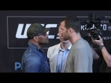 UFC 221: Romero vs Rockhold - Press Conference Faceoffs