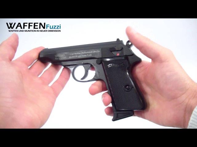 Walther PP kal. 9mm P.A.K - Schreckschuss-Waffen Test, Gas Pistole, www.waffenfuzzi.de