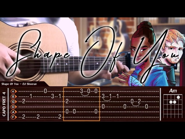 Ed Sheeran - Shape Of You - Cover (Fingerstyle Cover) TAB Tutorial Chord (Lesson)
