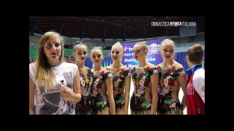 Marta Pagnini intervista la squadra russa