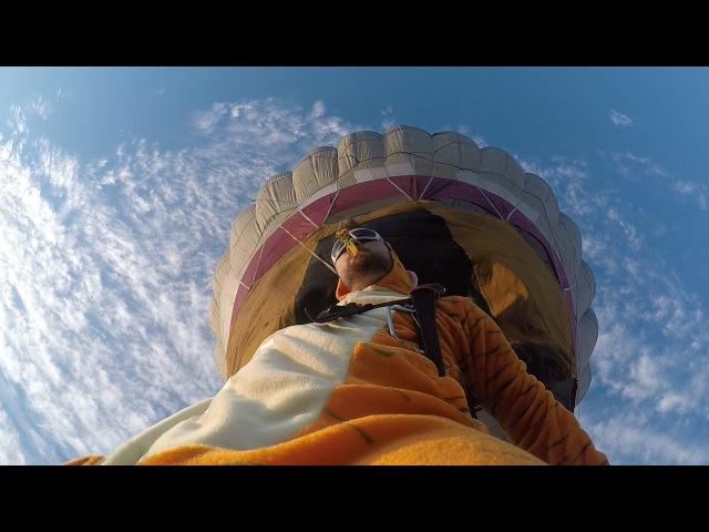 Парашютный зверинец на воздушном шаре