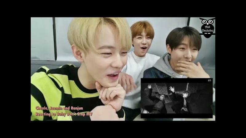 NCT Dream Reacting Dancing to NCT U - Baby Don't Stop