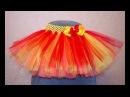 Пышная юбка пачка туту из фатина своими руками DIY tulle skirt handmade