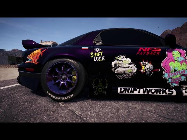 Mazda Rx7 Splitting Flames Drift NFS PayBack
