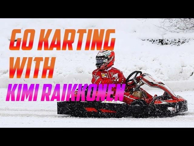 Kimi Raikkonen Races A Drone In Snow