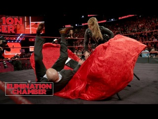 The «Jean»: Ronda Rousey puts Triple H through a table at her contract signing: WWE Elimination Chamber 2018