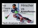 Marcel Hirscher vs Henrik Kristoffersen Analysis Slalom Val D'isere