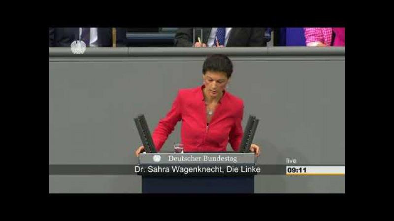 Sahra Wagenknecht, Die Bürger wollen Sie nicht mehr Frau Merkel!