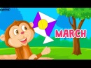 March song for children   months of the year song learn English kids   KidloLand