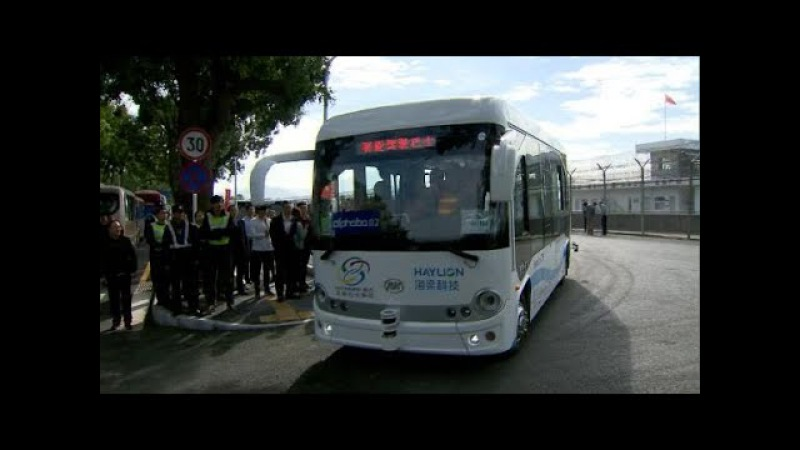 Self-driving buses tested in China