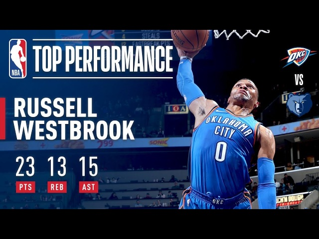 Russell Westbrook Rallies the Thunder With a Triple-Double vs. the Grizz | February 14, 2018