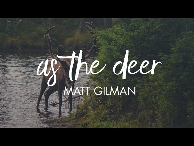 As The Deer - Matt Gilman Letras