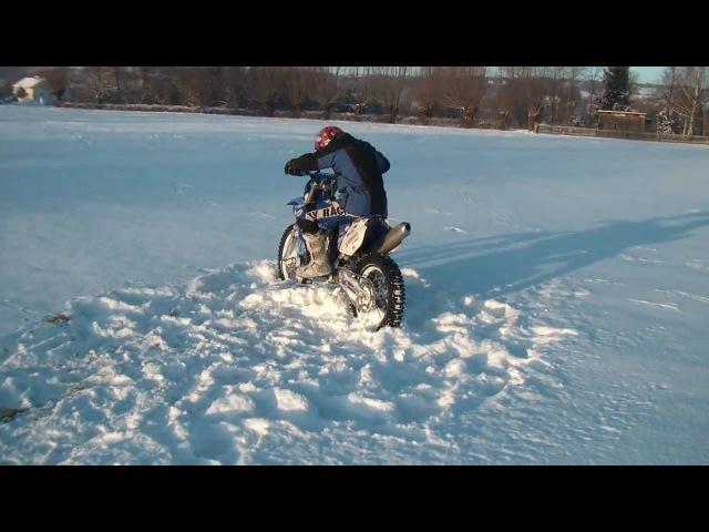 Yamaha yzf 250 Snow Ride Crash ( HD ) PL
