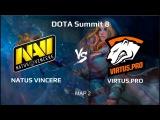 NaVi vs Virtus.Pro map 2 | Bo5 | DOTA Summit 8