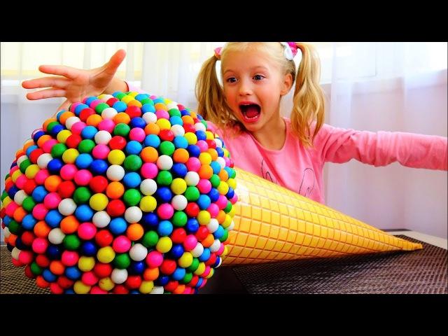 Вредные Детки Гигантское Мороженое из Жвачек! Самое Большое в Мире Мороженое Ж...